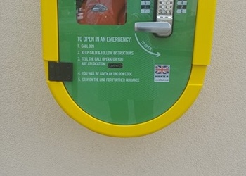 DEFIBRILLATORS INSTALLED AND WORKING  IN 3 PLACES AROUND COLBURN TOWN