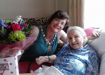 We have a Centenarian in Colburn   Peach Martin turned 100 years young on Sunday