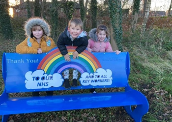 COLBURN TOWN COUNCIL HAVE HAD 2 NEW NHS BENCHES INSTALLED ON THE EDGE OF THEIR COLBURN SIDINGS WOODS ON THE A6136