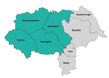 NORTH YORKSHIRE DATA INFORMATION FOR LATEST COVID CASES IN THE NORTH YORKSHIRE AREA